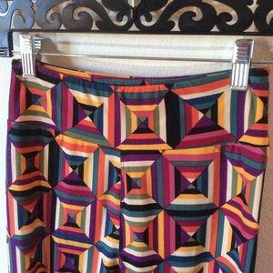 LuLaRoe Pants - Rainbow Geometric Lularoe One Size Skinny Leggings